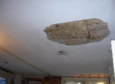 WATER DAMAGED PLASTER CEILING