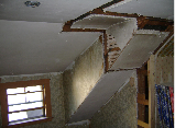 WALLS REMOVED TO OPEN STAIRWAY