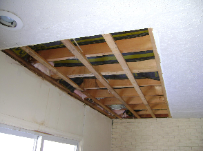 WATER DAMAGED TEXTURED CEILING